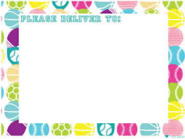 Girls Sports with Lines Notepad with envelopes 1