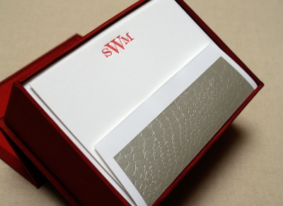 Silk Box Stationery Set - Petite