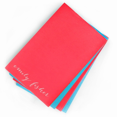 White on Bright Personalized Large Note Pad