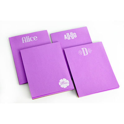 White on Bright Personalized Small Note Pad 2