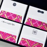 Personalized Stationery in Silk Box