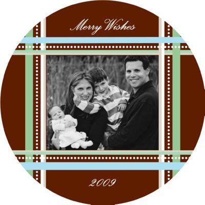 Boxed digital Round photo holiday card