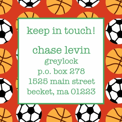 Sports Keep In Touch Card