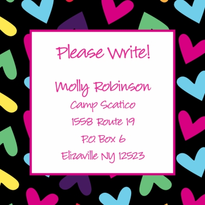 Hearts Rainbow Keep In Touch Card