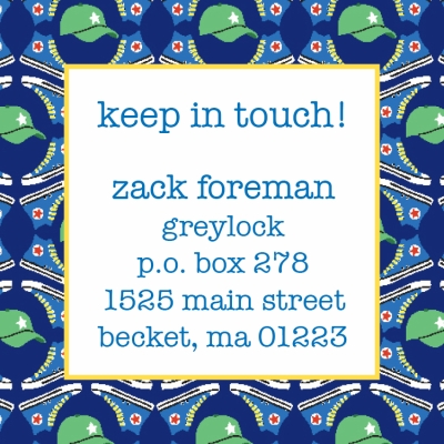 Hat & Shoes Keep In Touch Card