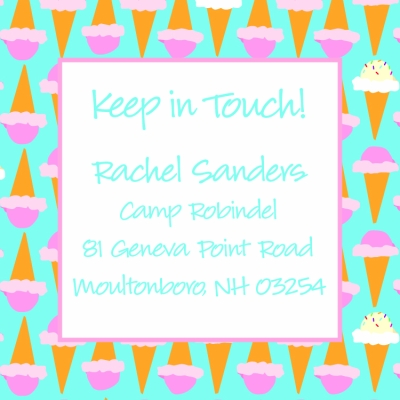 Ice Cream Cone Keep In Touch Card
