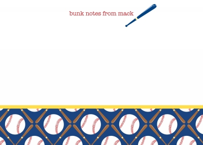 Baseball Note Cards