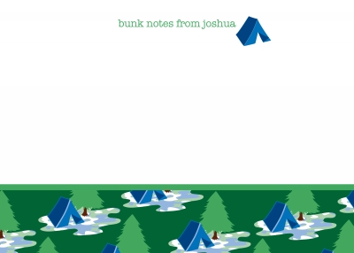 Camping Tent Note Cards by iDesign Paper - Discounted