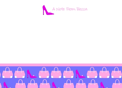 Purse & Shoes Note Cards