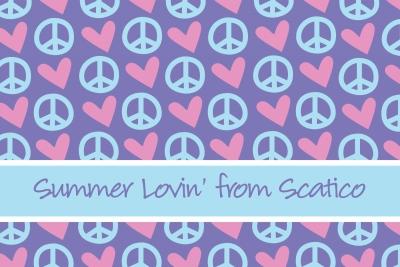 Peace & Love Post Card