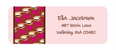 Smores Return Address Labels