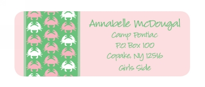 Crabs Return Address Labels