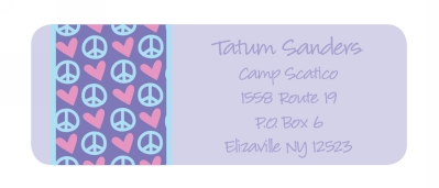 Peace & Love Return Address Labels