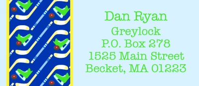 Hockey Return Address Labels