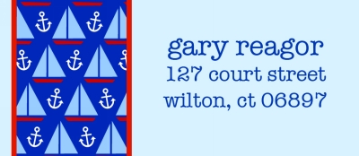 Sailboat and Anchor Return Address Labels