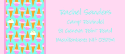 Ice Cream Cone Return Address Labels