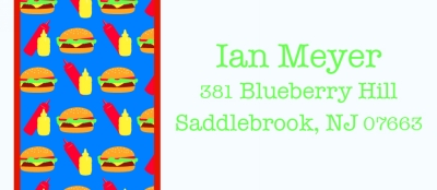 Hamburger Return Address Labels by iDesign Paper - Discounted