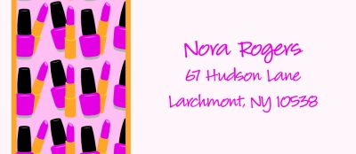 Makeup - Nail Polish & Lipstick Return Address Labels