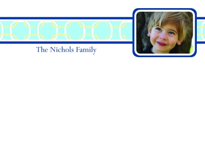 Links Turquoise Photo Flat Note Card