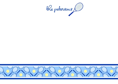 Tennis Anyone? Navy Flat Note Card