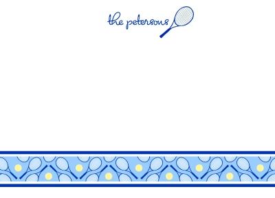 Tennis Anyone? Navy Flat Note Card