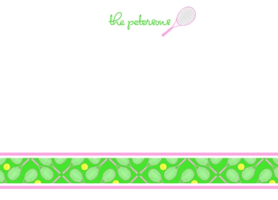 Tennis Anyone? Green Flat Note Card