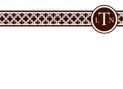 Basketweave Chocolate Flat Note Card