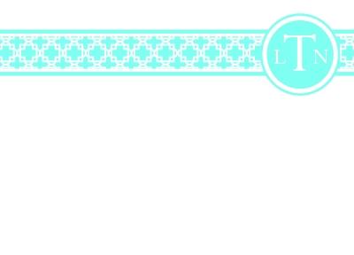 Basketweave Turq Flat Note Card