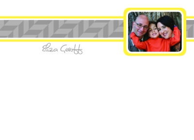 Outlined Photo Flat Note Card by iDesign Paper - Discounted