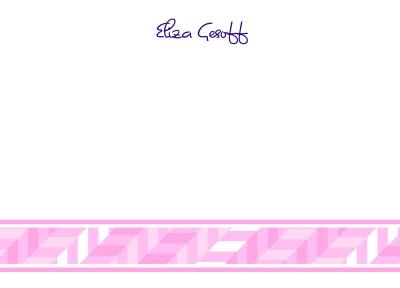 Pastel Pink Flat Note Card