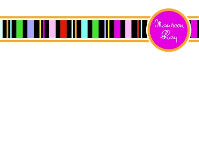 Black Stripes Flat Note Card