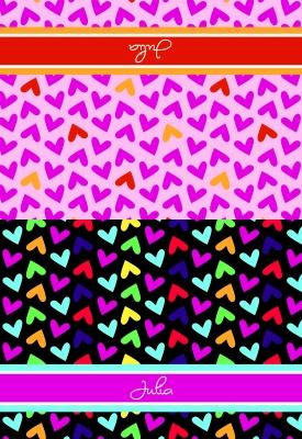 Fallen Hearts  Folded Note Card