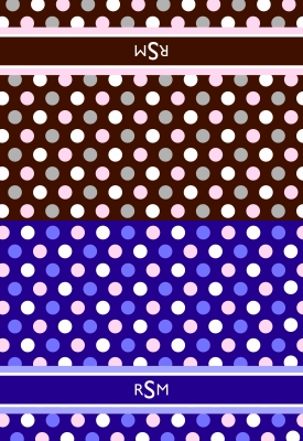 Polka Dots Folded Note Card