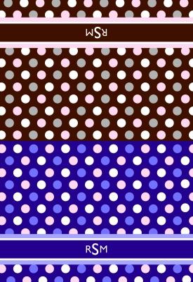 Polka Dots Folded Note Card
