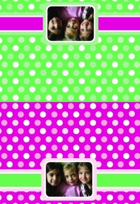 Polka Dots Photo Folded Note Card