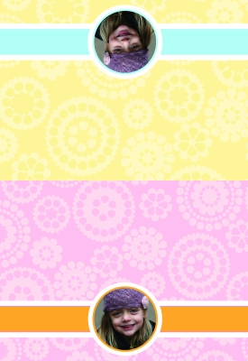 Flower Dots Photo Folded Note Card