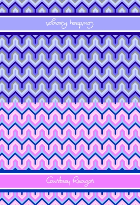 Bargello Folded Note Card by iDesign Paper - Discounted