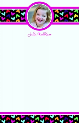 Fallen Hearts Photo Note Pad by iDesign Paper - Discounted