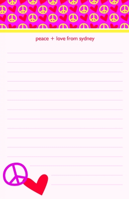 Peace and Love  Note Pad