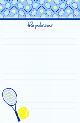 Tennis Anyone?  Note Pad