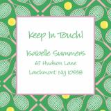 Tennis Keep In Touch Card by iDesign Paper - Discounted