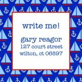 Sailboat and Anchor Keep In Touch Card by iDesign Paper - Discounted