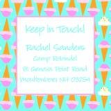 Ice Cream Cone Keep In Touch Card by iDesign Paper - Discounted