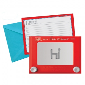 Etch A Sketch set of 8 note cards with envelopes
