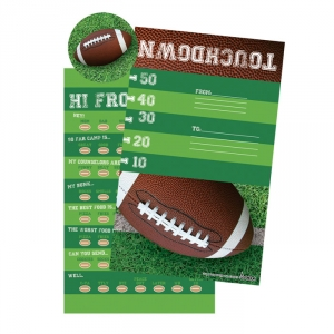 Football camp stationery with stickers for campers