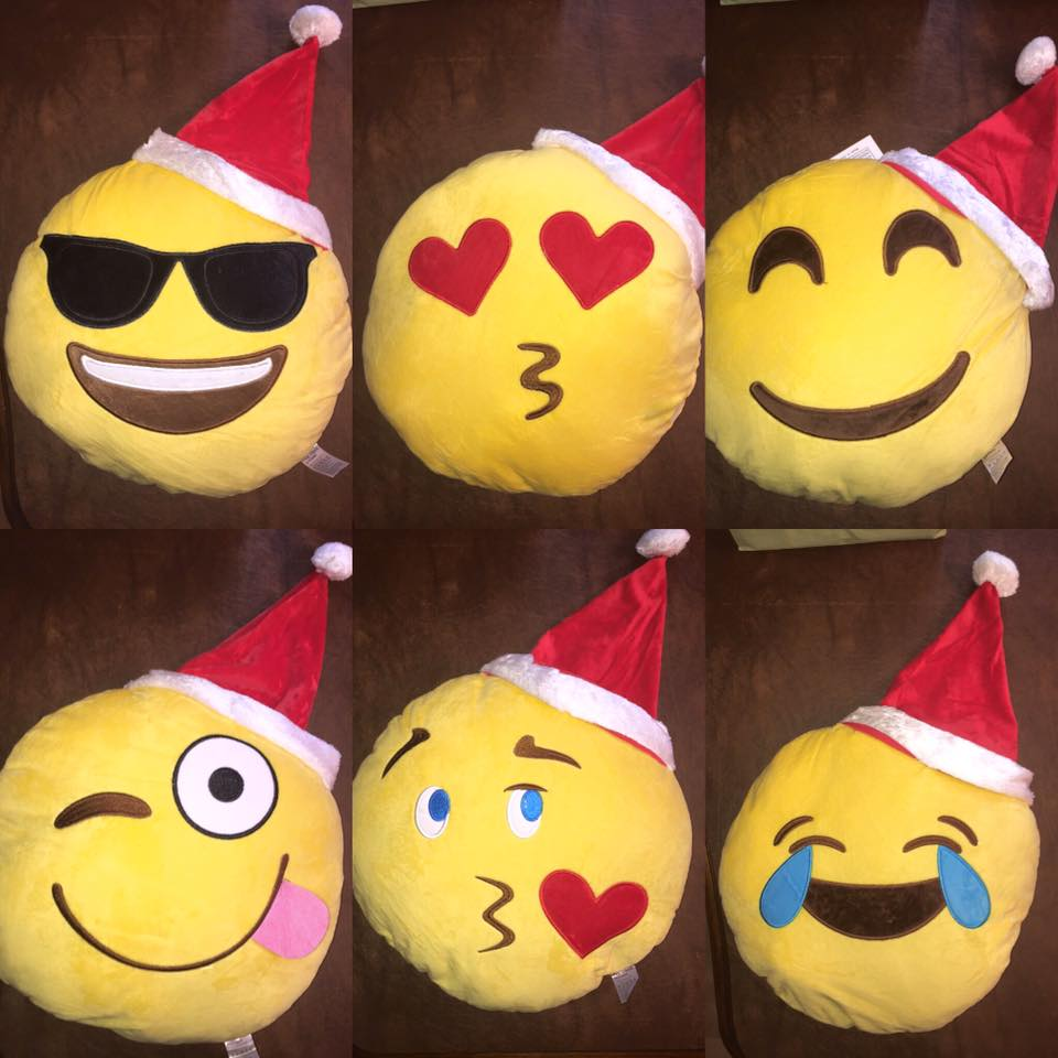 Santa Emoji Pillow for Christmas