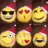 Santa Emoji Pillow for Christmas