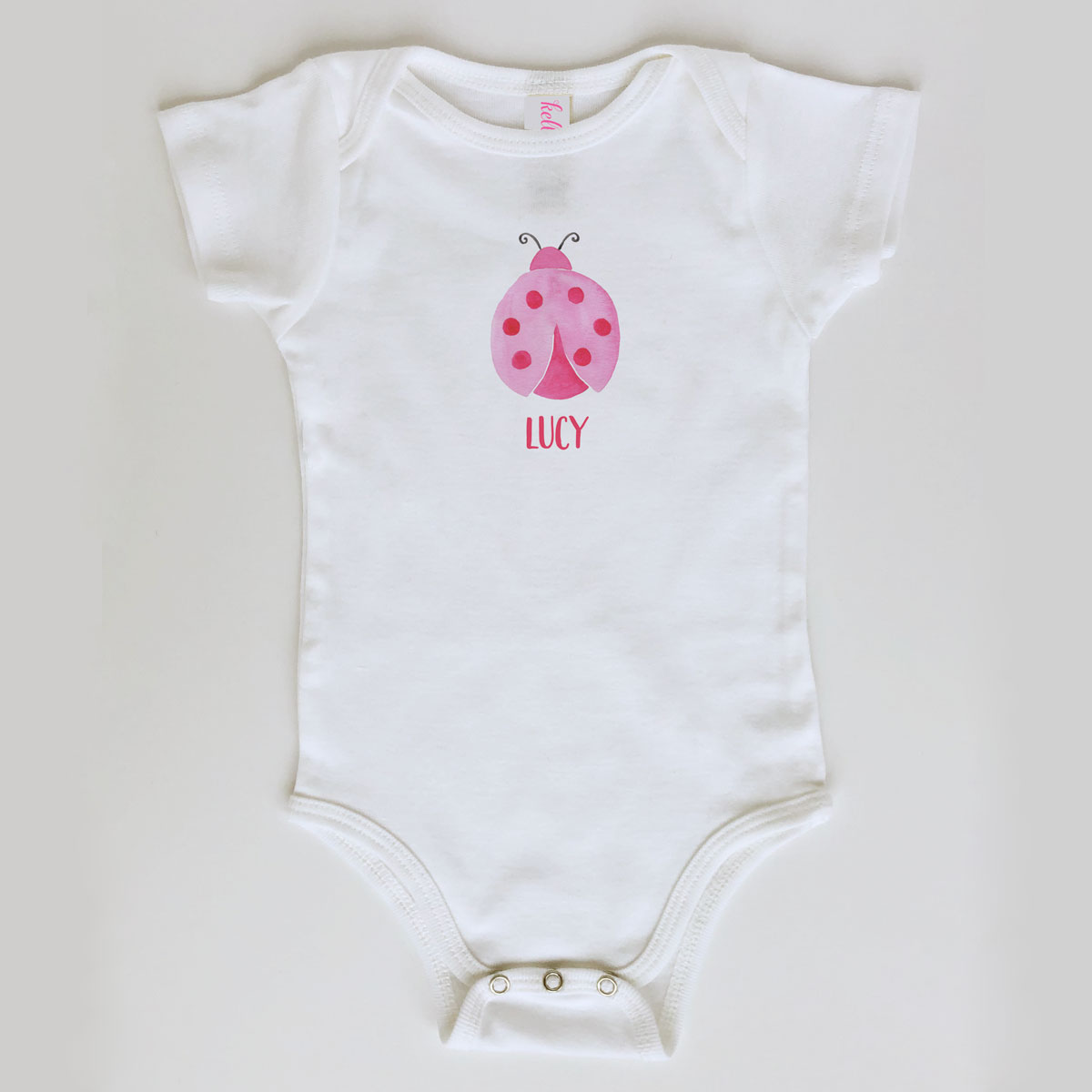 Ladybug Onesie Personalized for Baby