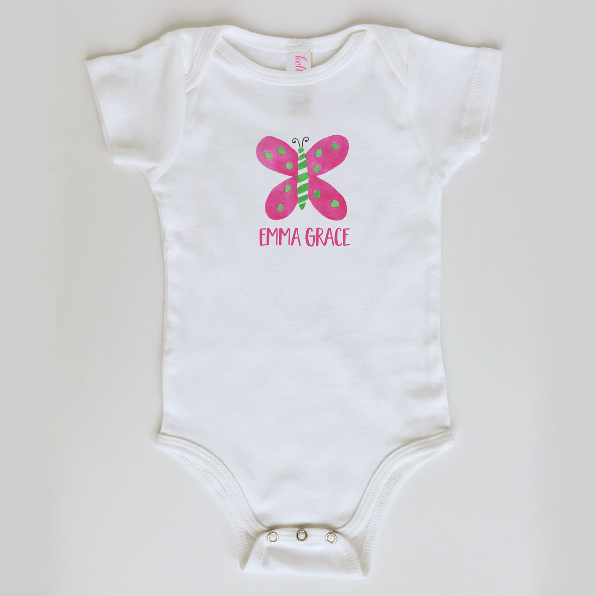 Baby Girl Butterfly Onesie Personalized