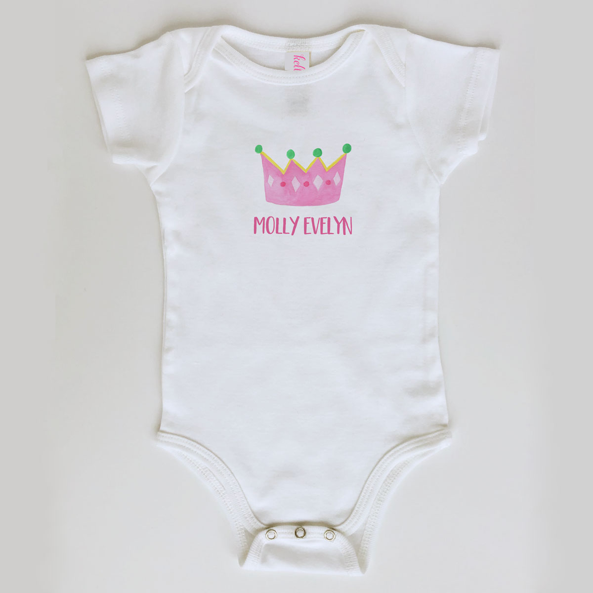 Baby Girl Princess Onesie Personalized